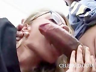 sex office blonde blowjob facial cumshot softcore