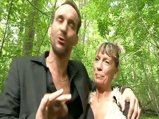 shanaelle a mature anal drilled in the woods