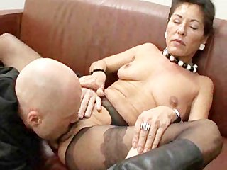 hairy mature boss with salaried