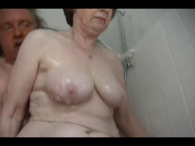 sexy granny bathing