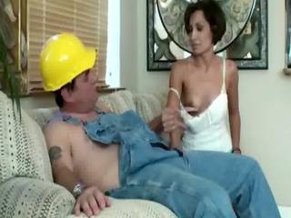 tugjob cfnm mommys tug the workmens knobs