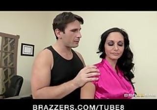 hot horny executive ava addams massaged and