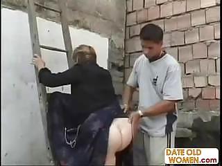 big ass german granny action