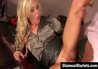 european dressed posh wench gets a cumshot