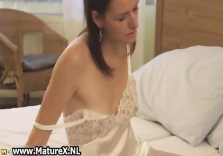 horny brunette housewife enjoys rubbing part6