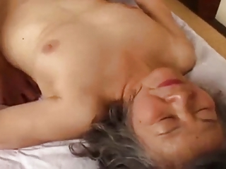 granny japanese is fuck by youthful chap