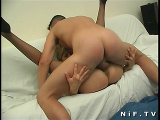 french mommy gets anal fucked by a juvenile fellow