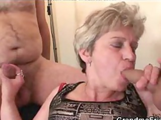 granny threesome action aged older porn granny