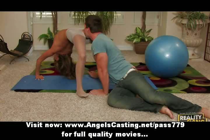 flexible excellent redhead slut doing blowjob and