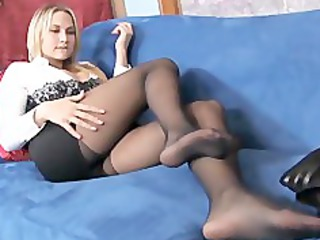 busty golden-haired d like to fuck teases in