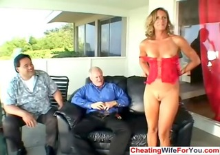 lustful aged wife receive double facial