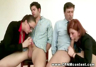 cfnm sluts gte bent over their chairs for