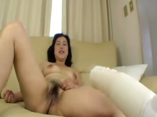 shaggy asian mature acquires fingered