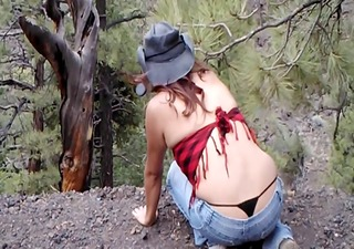 sdruws5 - panty thong outdoors
