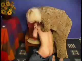 old mom spanks him and then fucsk him