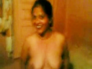 indian wife showing milk cans