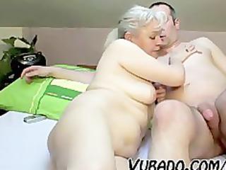 older pair fuck hard on bed