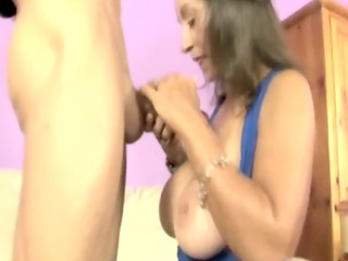 hot handjob d like to fuck gives great titjob