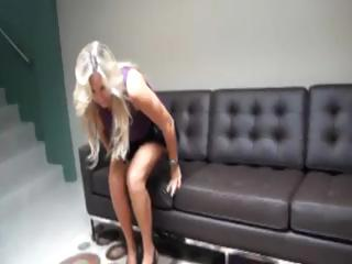 breasty golden-haired mom gets a pussy licking