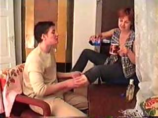 drunk mature mom fucked on the carpet by younger