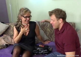horny milf cheats on husband with stepson