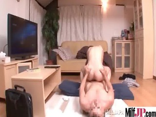 hot sexy horny japanese milf get banged on tape