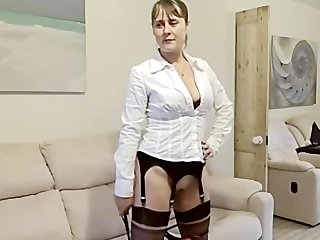 hot wife fucked in boots &amp stockings