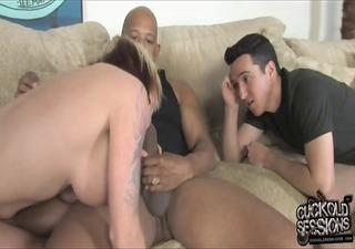 white trash wife owned by bbc whilst cuckold watch