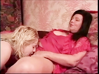 older lesbo with a youthful girl