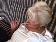 blonde aged slut fucking &_ pissing