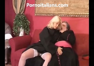 italian nun breasty blonde hairy wet crack