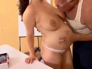 preggy - grandpa mireck and preggy whore