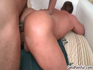 mature muscle guy engulfing darksome cock