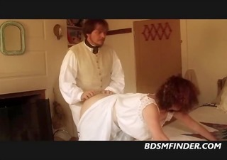 milf receives her ass spanked red