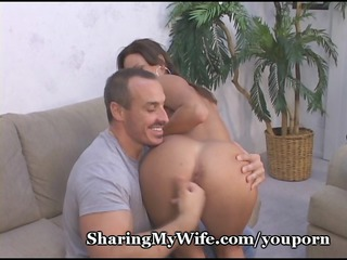 cock-hungry mom milks dude