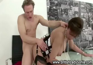 stockinged older wench drilled