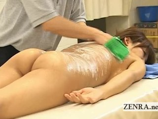nude japanese milf has her undressed plump butt