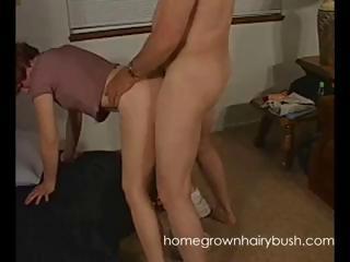 horny mature amateur redhead licks hubbys cock