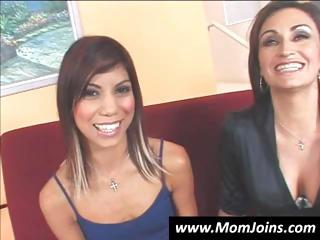 sexy mother i and her daughter are showing off