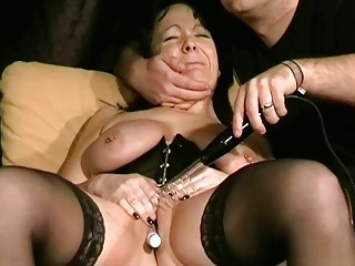 older bdsm and electro ache of english slaveslut