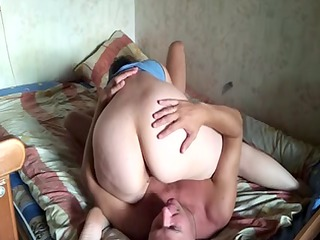 russian aged pair at home 8