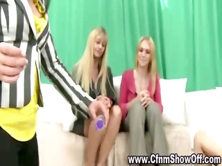 cfnm chap sucked and fucked by dominant hottie in