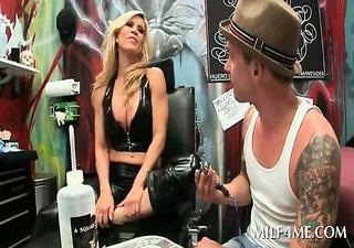 blond perverted milf on knees sucking legal age