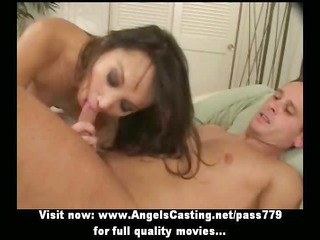 sexy ass brunette hair sucking and riding and