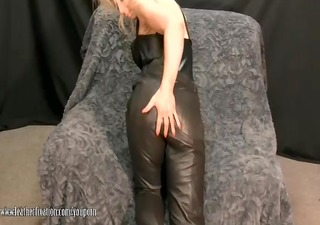 sexy milf takes off panties and plays with soaked