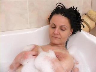 lewd grandma in the tub