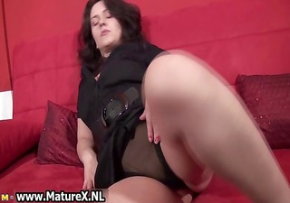 sexy brunette hair housewife getting part3