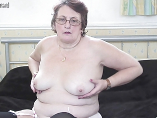 stylish large grandmother still loves to acquire
