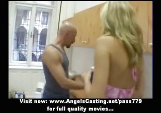 amateur fascinating blonde bride pleasant talking