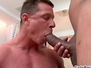 mature muscle boy engulfing black ramrod part8